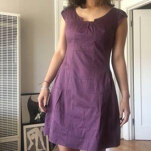 ANTHROPOLOGIE MOULINETTE SOEURS Purple Dress Sz 2